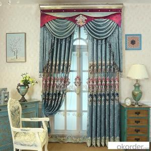 Home curtain hotel curtain blackout curtain chenille European embroidery fabric curtain