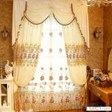 Home curtain hotel curtain blackout curtain European luxury  embroidered curtain fabric