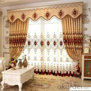 Home curtain hotel curtain blackout curtain embroidered  velvet curtain fabric