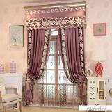 Home curtain hotel curtain blackout curtain Laser embroidery  velvet curtain