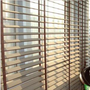 printed sunblinds with narrow stripes for window