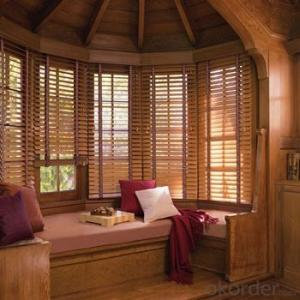 Motorized External Venetian Blind with Wide Wooden Blinds Images