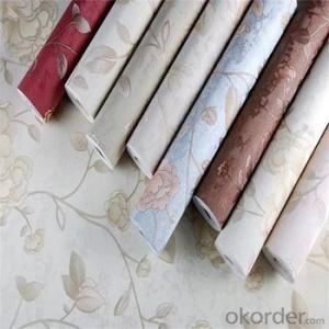 2019 Anti-Bacterial Hotsell pvc Woven Vinyl Chinese Wallpaper