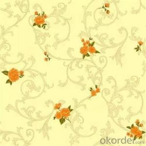 Classic Eroup Style PVC Heavy Deep Embossed Wallpaper for Home Decoration