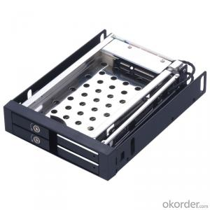 Unestech Aluminum 2.5in dual bay Tray-less SATA Hot swap HDD mobile rack