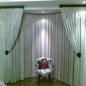 Pleated Fabric Outside Motorized Shade Blinds