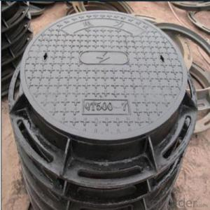 Casting Iron Concrete Manhole Cover with OEM Service B125 and C250