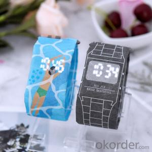 Paper Watch  Tyvek Waterproof Custom LED Digital Paper OEM Light Souvenir for Concert