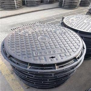 Casting Iron Manhole Cover For Construction from Handan B125 C250