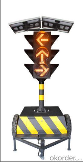 200mm&300mm solar movable LED traffic signal light