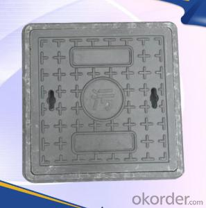 Casted OEM ductile iron manhole cover with superior quality for mining