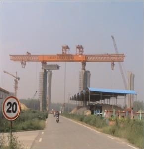 CNBM 50M span Pre-casted segmental assembly Launching Gantry/ Bridge girder erection machine