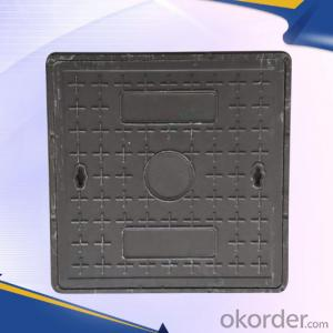 Casting OEM ductile iron manhole cover with superior quality for industries with frames