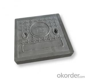casted ductile iron manhole cover for mining and industry EN124 Standards Made in China