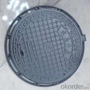 Casting Ductile Iron Manhole Cover C250 D400 for Mining and construction with Frames