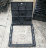 ductile iron manhole cover with superior quality manufactured in China