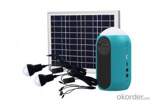 lithium Portable home use small solar energy system with fan