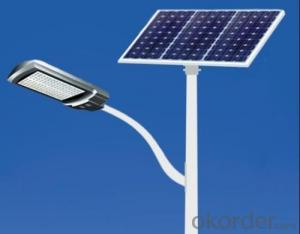 Cuztomized 100w solar power street light system with pole solar system