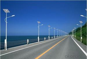 Cuztomized 100w solar power street light system with pole solar system