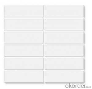 45*145 white subway tiles for kitchen and bathroom