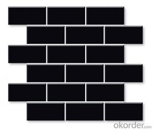 black subway mosaic tile for kitchen wall 45*95mm