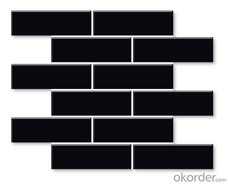 45*145 subway mosaic tiles black for bathroom or kitchen
