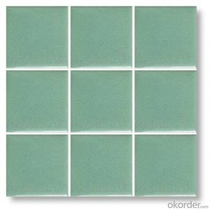 glazed ceramic mosaic tile 97*97mm for swimming pool