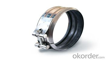 Stainless steel throat band all steel half steel clamp