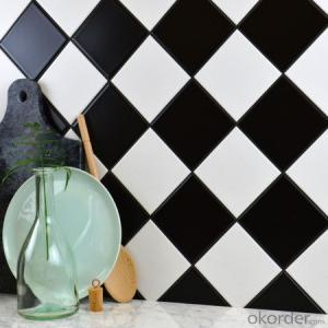 black square ceramic mosaic tile for interior wall