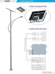 5 Years Warranty high quality 80w lithium battery solar street system