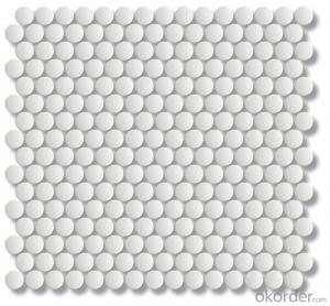 Bianco Penny Round Unglazed Ceramic Mosaic Tile for Backsplash