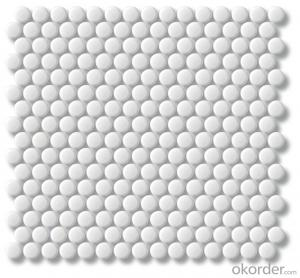Penny Round Ceramic Mosaic Tile for Kitchen Bathroom Backsplash