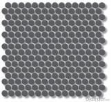 Grey Matte Unglazed Penny Round Ceramic Mosaic Tile