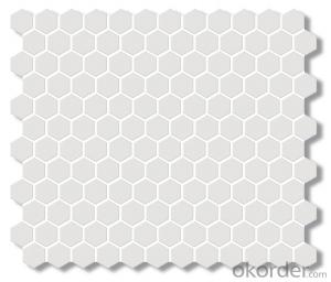 "Unglazed 1"" Hexagon Ceramic Mosaic Tile for Kitchen backsplash Bathroom Wall"