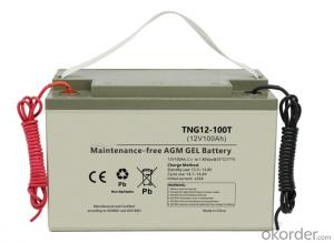 Supply TNG12-100T desiged for solar street light On-grid off-grid energy storage gel battery