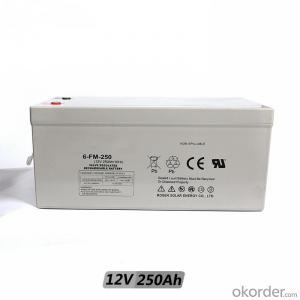 Lead-Acid Battery AGM 12v 120ah 200ah 250ah 250 AH Solar Battery