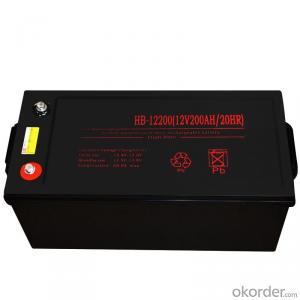 12V200/20HR maintenance-free lead-acid battery ups,fire fighting equipment,Solar energy