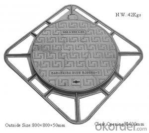 MANHOLE COVER CAST IRON DUCTILE IRON EN124
