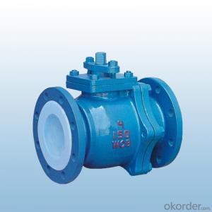Q41F-10C series lining fluorine ball valve