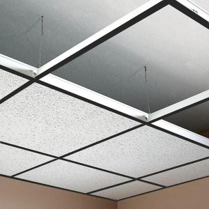 Black suspended ceiling grid ceiling system