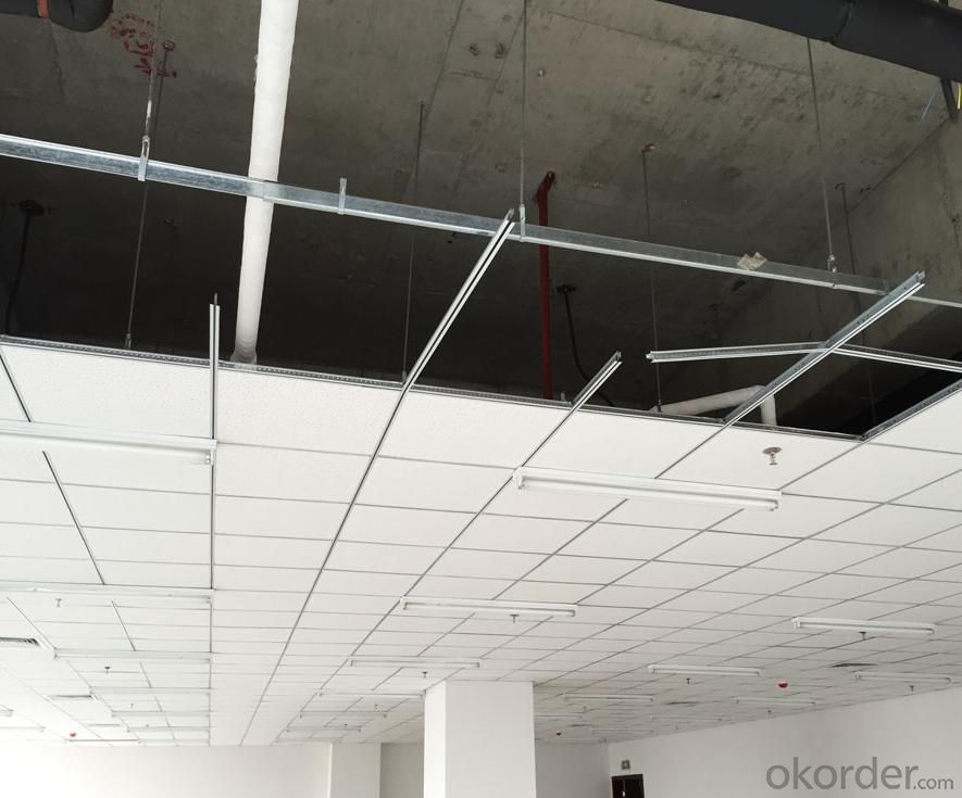 Mineral Fiber Acoustical Suspended, Sound Insulating Drop Ceiling Basement
