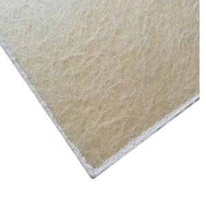Fire insulated fiber glass acoustic ceiling