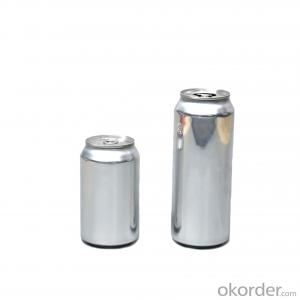 Round aluminum beer beverage can for soft drink or milk