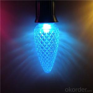 Commercial Grade Brightest C9 LED Chrismtas Light bulb Teal Turquoise Color
