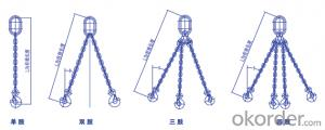 chain sling,Safety factor:4:1,single leg、two legs etc