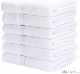White Dobby Jacquard Egyptian Cotton Multipurpose  Hand Towels for Hotel Use