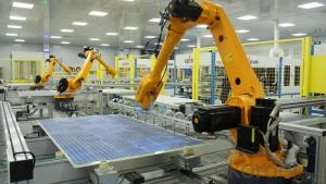Construction of photovoltaic solar panel production line from CNBM