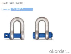 D-Shackle,It is made of high quality alloy steel by die forging.