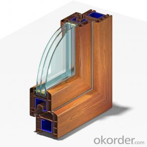 High quality laminated window and door profiles of German quality