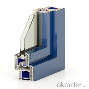 German colorful Laminated UPVC door and window profiles